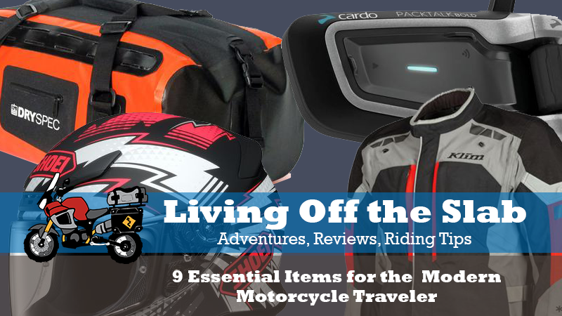9 Essential Items for Motorcycle Travel